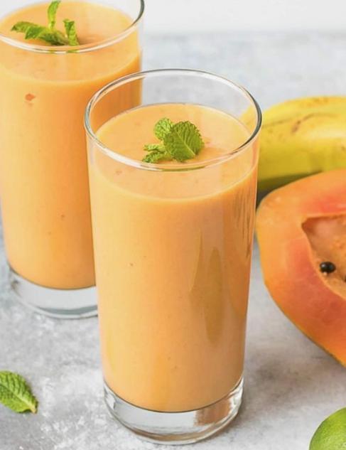 Batido de papaya y plátano