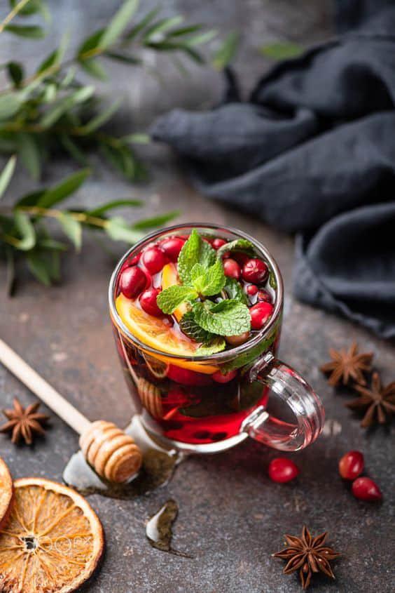5 bebidas que te ayudarán a quemar grasa y subir tus defensas - Té de arándano