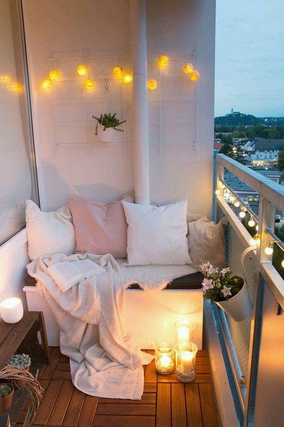 Colores cálidos para decorar la terraza
