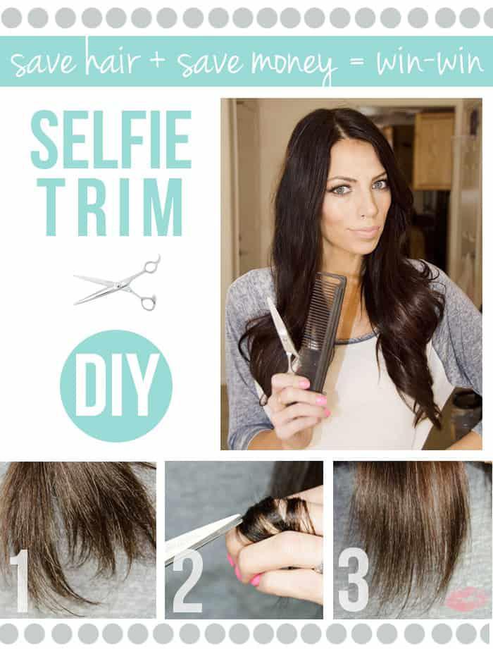 Tips para despuntar tu cabello desde casa - Dedo índice
