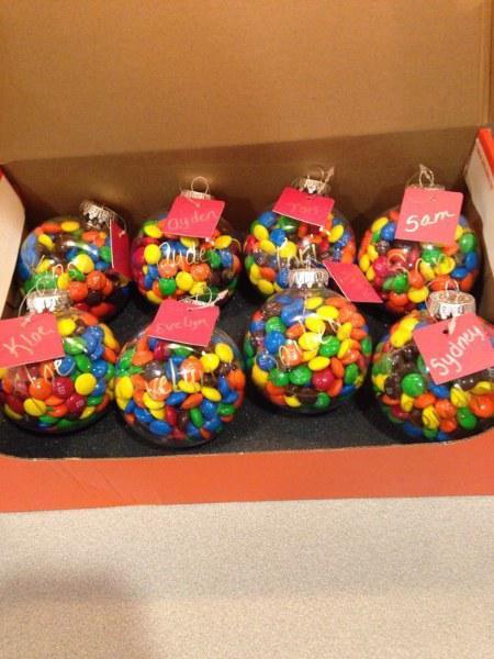 Esferas (DIY) llenas de chocolates