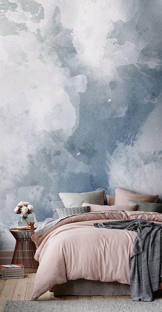 Formas sencillas de decorar tus paredes usando colores - Texturas