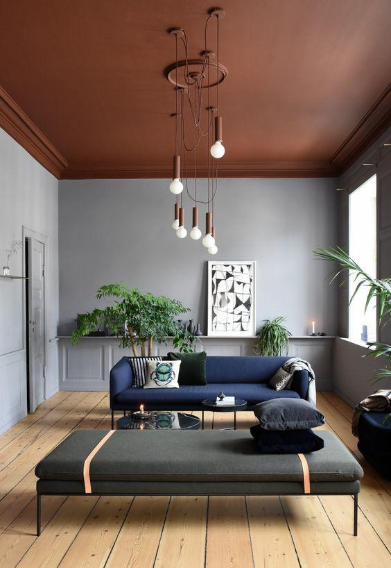 Formas sencillas de decorar tus paredes usando colores - Pinta el techo