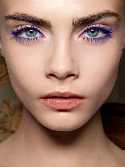 Tendencias de maquillaje Otoño/Invierno - Pestañas de colores