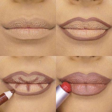 Trucos para hacer ver tus labios más grandes (sin inyecciones) - Contouring