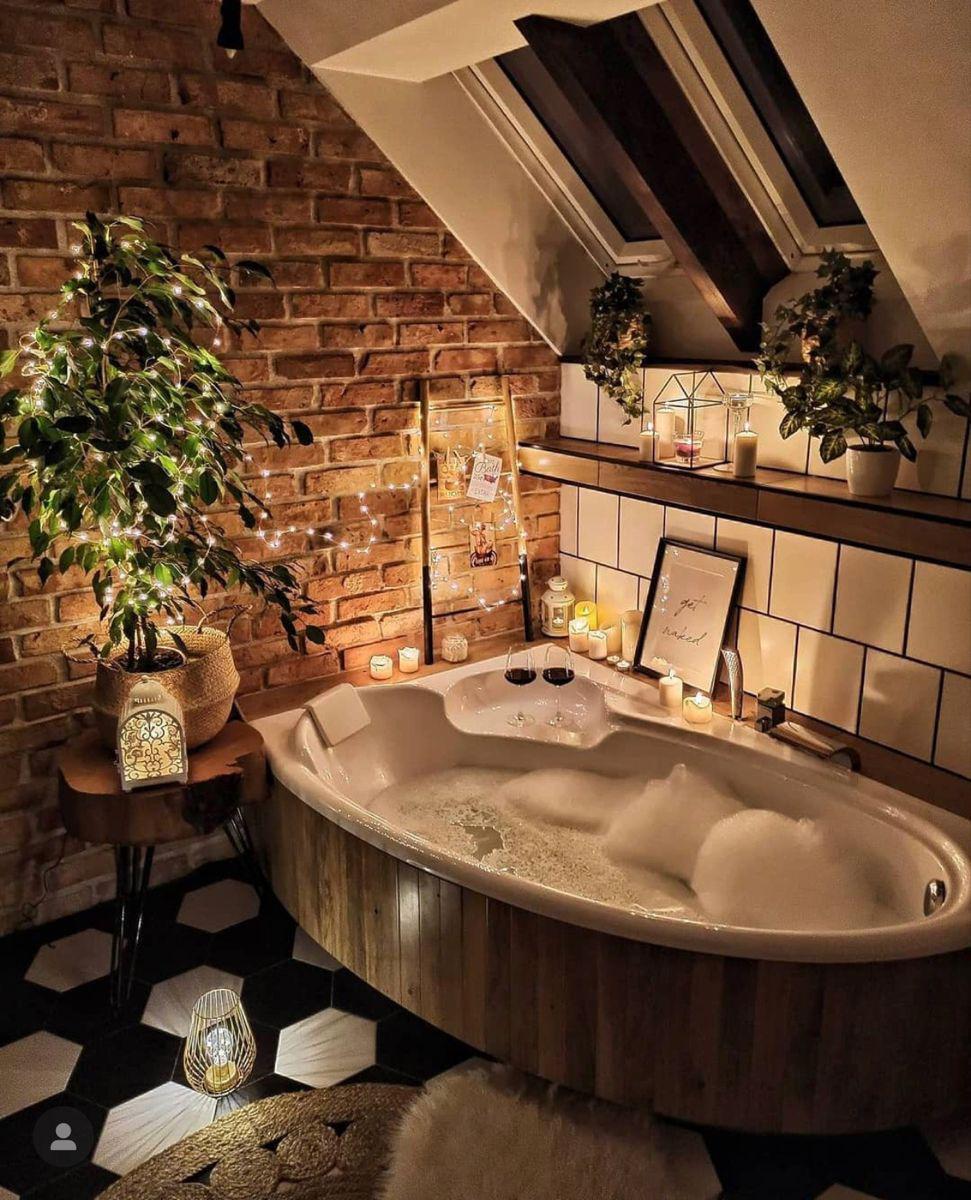 baño relajante de burbujas