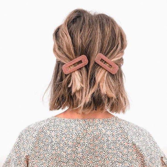 ideas de peinados para cabello corto - Pasadores