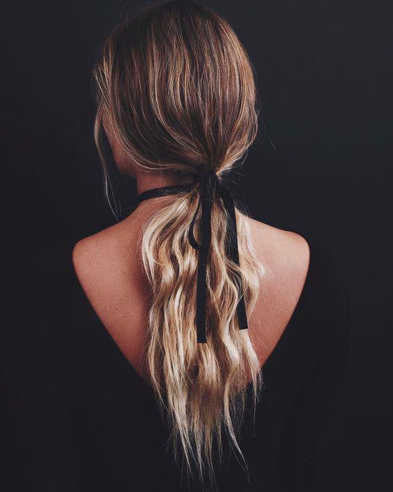Ideas de peinados con tenazas pequeñas - Listones delgados