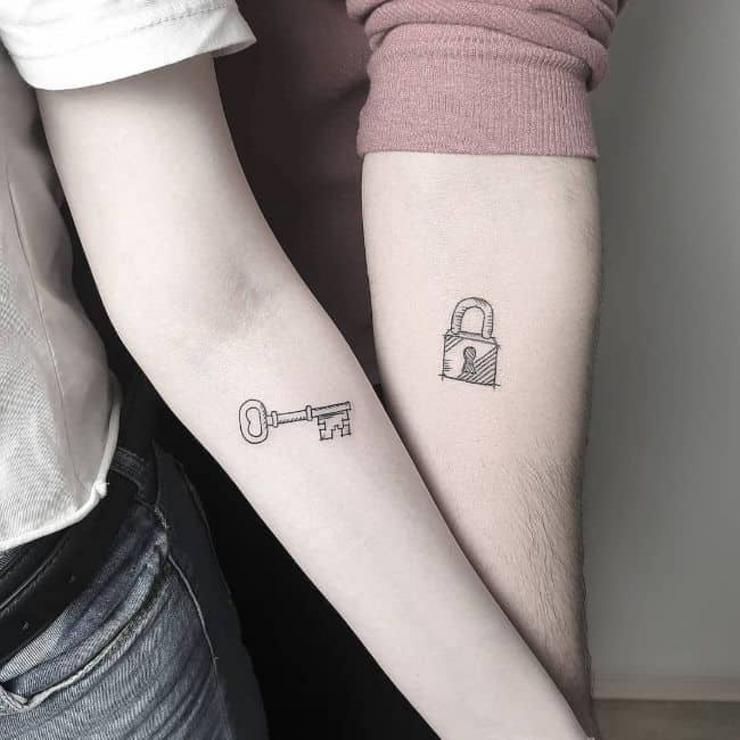 tatuajes llave y candado