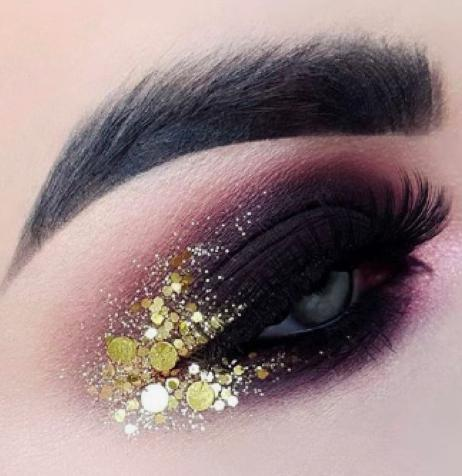 maquillaje de noche: Ideas para lucir espectacular - Smudgy y glitter