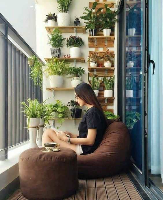 Ideas para decorar tu depa con tantas plantas como desees - Zona de descanso
