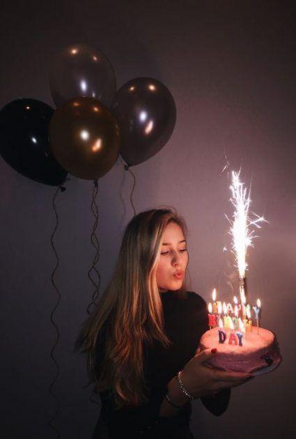 """Ideas """"Chic"""" para fotos en tu cumple años - Fotos con tu Birthday cake"""