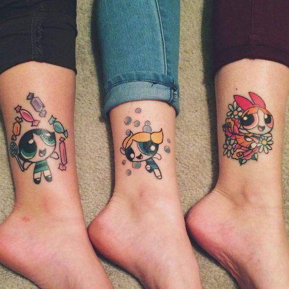 Ideas de tatuajes para hermanas - ¡Las chicas super poderosas!