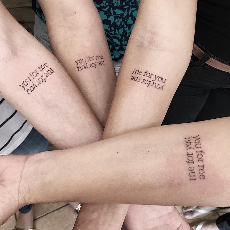 Ideas de tatuajes para hermanas - Si son más de dos