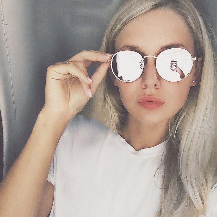 Ideas para lucir espectacular con lentes de sol - Rostro cuadrado