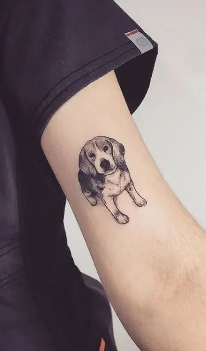 ideas de tatuajes en el brazo para chicas - Perritos