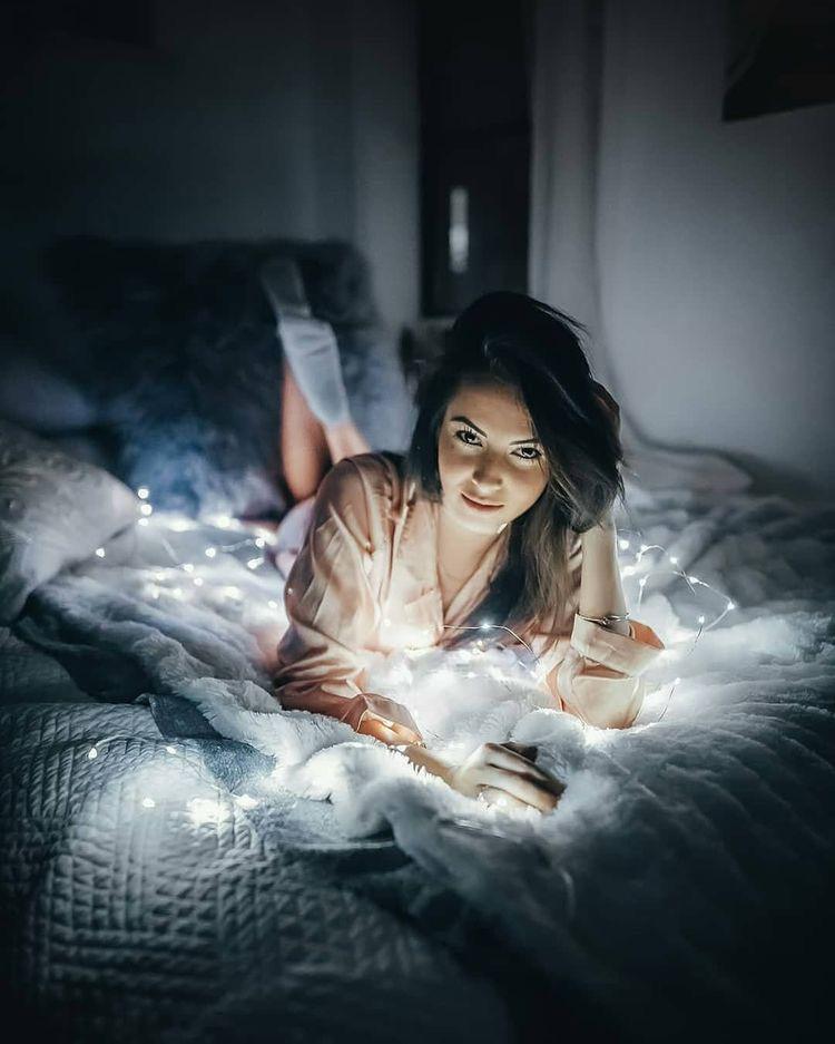 Ideas para tomarte fotos en tu cuarto - Con luces LED