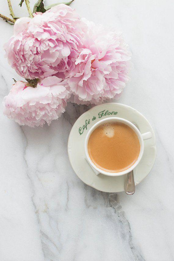 Ideas para fotos con tazas - Flores alrededor