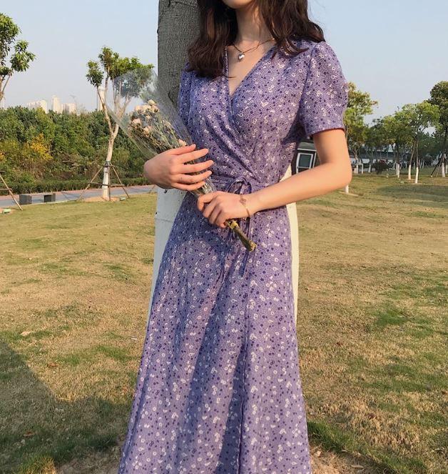 Ideas para looks color lavanda, el color del año - Vestidos