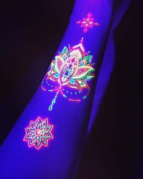 Tatuajes con tinta fosforescente - Contras