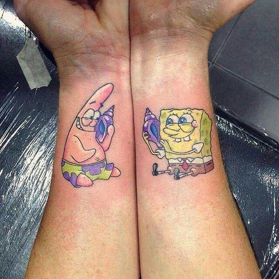 Tatuajes que simbolizan la amistad - Caricaturas