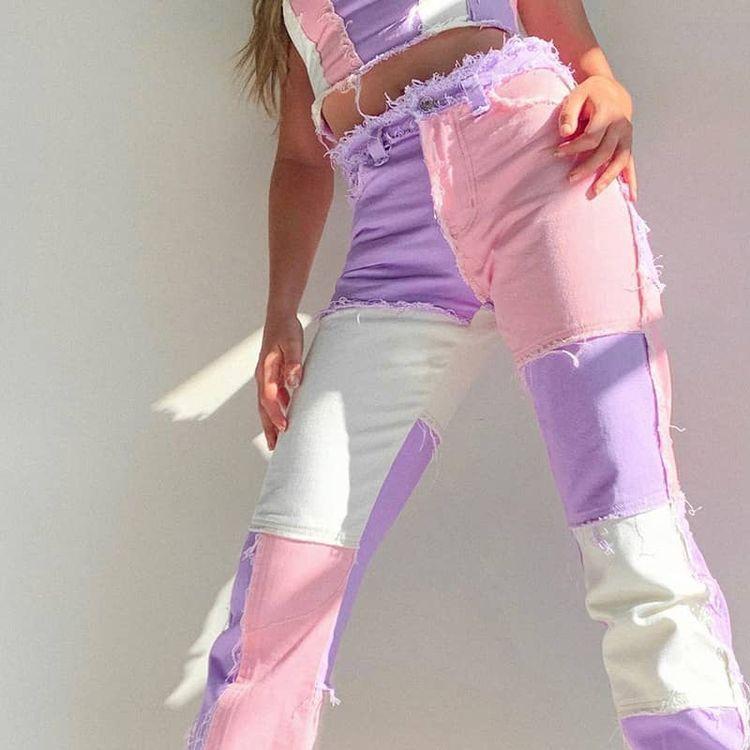 Formas de lograr un Aesthetic Outfit con tus jeans - Pantalones con parches