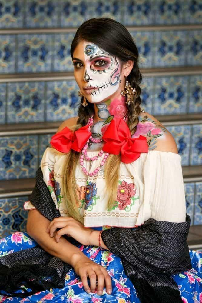 Ideas de maquillaje de Catrina - Rápidos y Sencillos - Traje regional