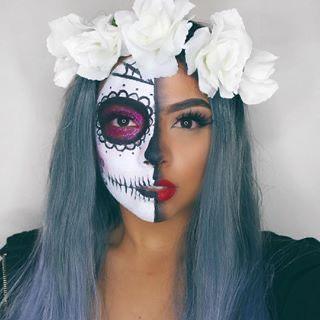 Ideas de maquillaje de Catrina - Rápidos y Sencillos -