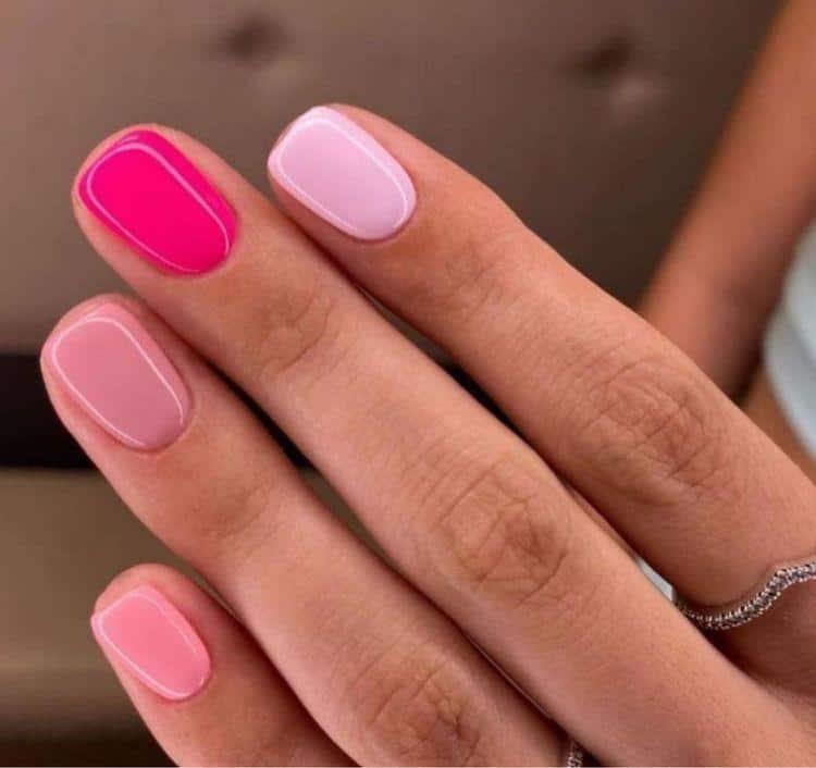 Diseños de uñas aesthetic para piel morena - Distintos tonos