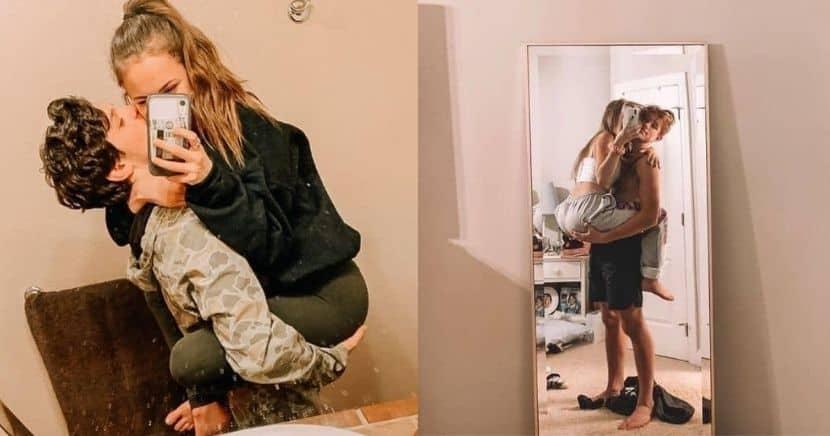 Ideas de fotos Tumblr en pareja frente al espejo