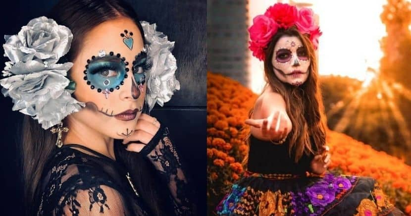 Ideas de maquillaje de Catrina - Rápidos y Sencillos