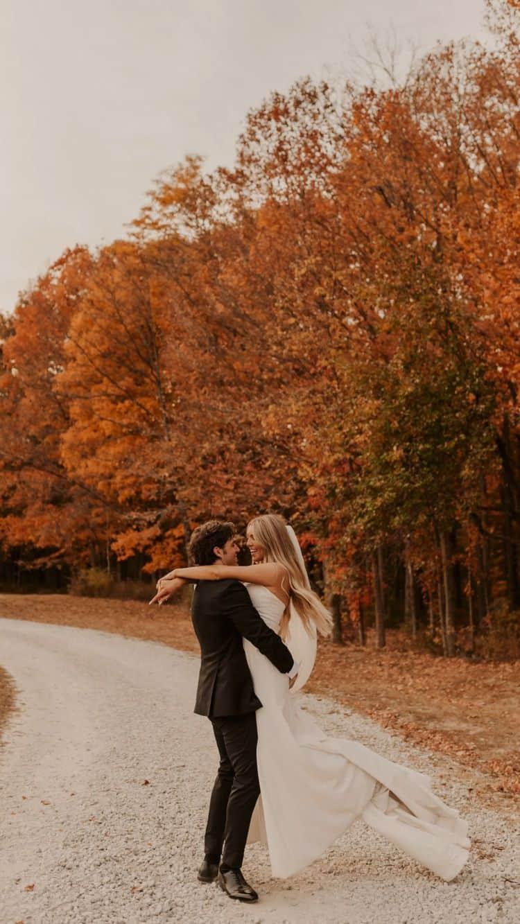 Ideas para fotos que debes intentar en tu boda - Fotos en el bosque