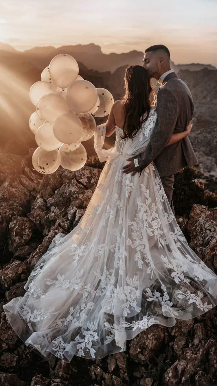 Ideas para fotos que debes intentar en tu boda - Un atardecer que roba suspiros