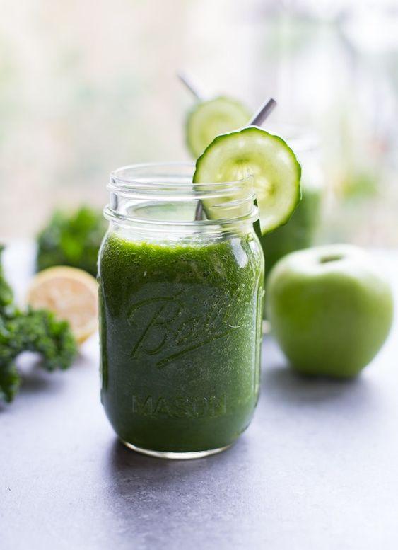 8 Sanos y deliciosos smoothies para cualquier hora - Smoothie verde de manzana